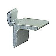 50 taquets pour crémaillères aluminium argent