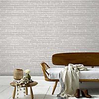 Papier peint vinyle expansé sur intissé Briquette gris