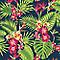 Papier peint vinyle graine sur intissé SUPERFRESCO Tropical fever multicolore
