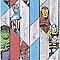 Papier peint papier Personnages Marvel sur fond bois