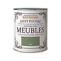 Peinture pour meubles Rust-Oleum kaki effet poudré mat intense 0,75L