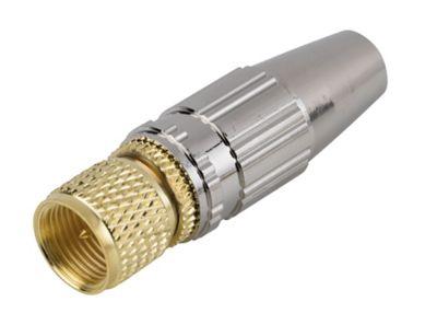 Fiche tv type f à câbler pour pf100rg6 or