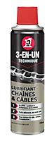 Lubrifiant Chaîne & Câbles 3-EN-UN TECHNIQUE 250ml