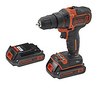Perceuse visseuse sans fil Black & Decker BDCD186K1B2 18V-2Ah