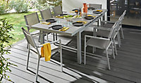 Table de jardin Brusnik + extension