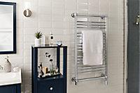 Sèche-serviettes électrique GoodHome Hyana chromé 350W