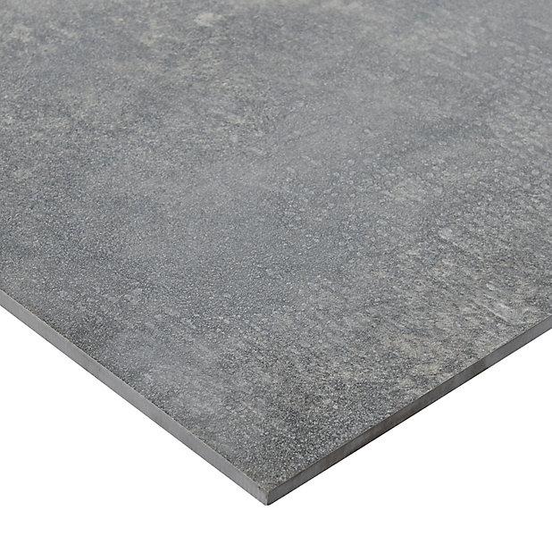Carrelage Exterieur Faktory Anthracite 40 X 80 Cm Castorama
