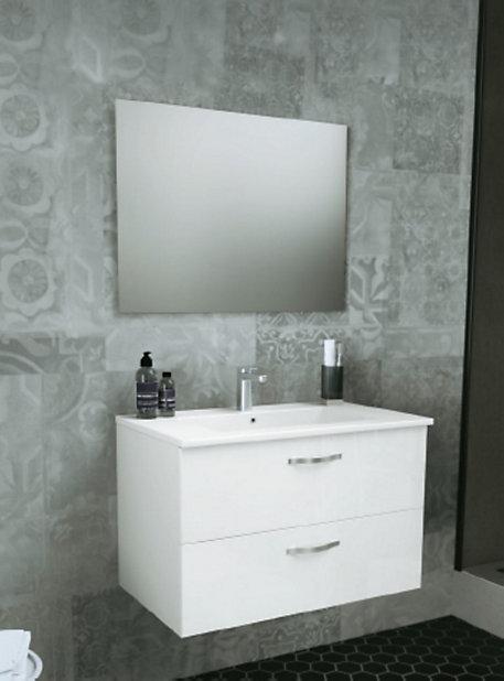 Meuble Sous Vasque A Suspendre Plan Vasque Paulina 80 Cm Miroir Castorama