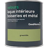 Laque boiseries et métal GoodHome Greenhills Velours 0,75L