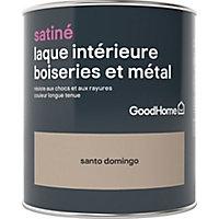 Laque boiseries et métal GoodHome St Domingo Satin 0,75L