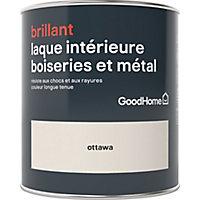 Laque boiseries et métal GoodHome Ottawa Brillant 0,75L