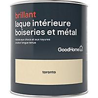 Laque boiseries et métal GoodHome Toronto Brillant 0,75L
