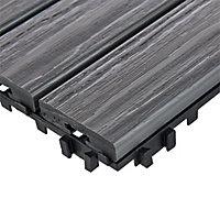 Dalle composite gris Lempa 30 x 30 cm (x 4)