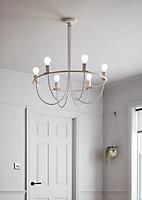 Suspension Biham Bihamp 6 ampoules E27 IP20 blanc