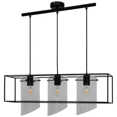 Suspension Daluiz 3 ampoules E27 IP20 noir