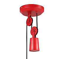 Suspension Yarra E27 IP20 rouge