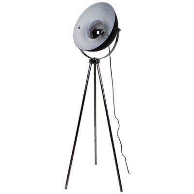 Lampadaire Selinda E27 IP20 noir