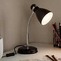 Lampe de bureau Naraji E27 IP20 noir