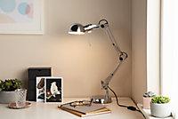Lampe de bureau Bakossi E14 IP20 argent