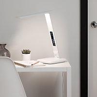 Lampe de table LED Conjola blanc