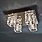 Plafonnier COLOURS Retz chromé et transparent