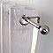 Ensemble barre à rideaux extensible COLOURS Ezol chromé mat 120/210 cm