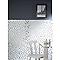 Mosaïque verre mix inox 32 x 32 cm