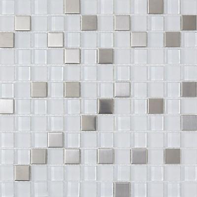 Mosaique Verre Mix Inox 32 X 32 Cm Castorama