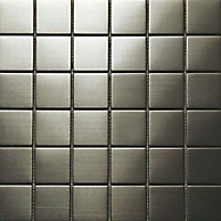 Mosaique argent inox 30 x 30 cm