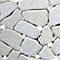 Frise galet plat blanc marbre 10 x 30 cm SWABINA
