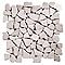Mosaïque galets plats blanc 32 x 32 SWABINA Marbre
