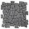 Mosaïque galets plats noir 32 x 32 Swabina Marbre