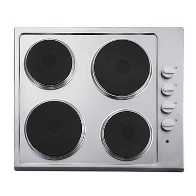 plaque de cuisson lectrique 4 zones inox cooke lewis ix clep1ss c castorama. Black Bedroom Furniture Sets. Home Design Ideas