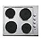 Plaque de cuisson électrique 4 zones inox COOKE & LEWIS IX CLEP1SS-C