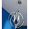 Suspension COLOURS Lassay chromé Ø50 x h.8,5 cm
