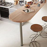 Pied de table réglable Diall ø76 x H. 1100 mm blanc