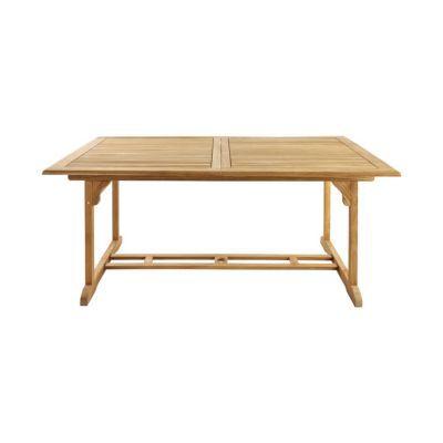 Table de jardin rectangulaire en teck roscana 180 240 x - Table jardin castorama ...