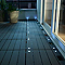Dalle balcon emboitable compoSite avec LED Blooma 30 x 30 cm