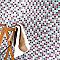Mosaïque bleue mauve 30 x 30 cm Tobuko