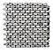Mosaïque blanche 30 x 29,7 cm Cuma