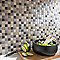 Mosaïque coloris noir et blanc 30 x 30 cm Orassio