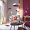 Ensemble barre à rideau extensible Colours Haruki orange fluo 120/210 cm