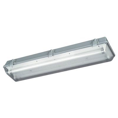 Réglette étanche fluo Diall Bahau 2x18W | Castorama