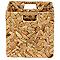 Boîte de rangement carrée en fibre naturelle Mixxit coloris naturel