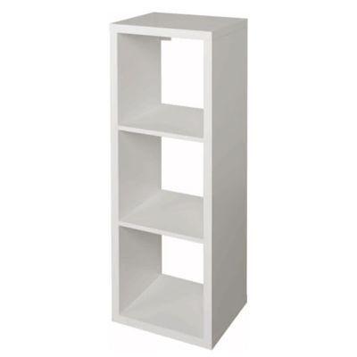 étagère Modulable 3 Cubes Coloris Blanc Mixxit Castorama