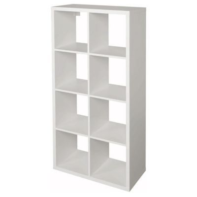 Tag re modulable 8 cases coloris blanc mixxit castorama - Meuble cube but ...