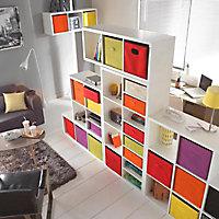 Étagère modulable 8 cubes coloris blanc Mixxit