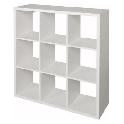 Tag re modulable 9 cases coloris blanc mixxit castorama for Meuble 4 cases ikea