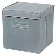 Boîte de rangement carrée en tissu Mixxit coloris gris