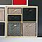 Boîte de rangement carrée en tissu tressé Mixxit coloris gris